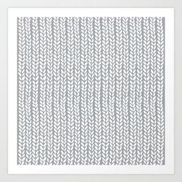 Knit Wave Grey Art Print