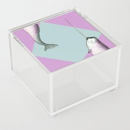 Narwhal Geometric Bright and Colorful Acrylic Box