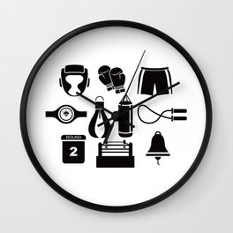 All The Things You Need To Become A Great Boxer Wall Clock