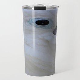 Side Portrait Of A Blue-Eyed Cockatoo Travel Mug