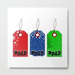 Christmas Tags Metal Print