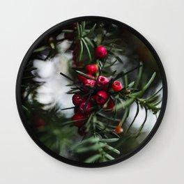 Norway berries Wall Clock