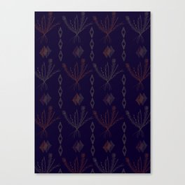 Purple Weeds Canvas Print