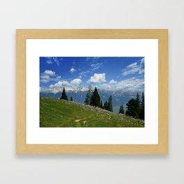 spring mountain Framed Art Print