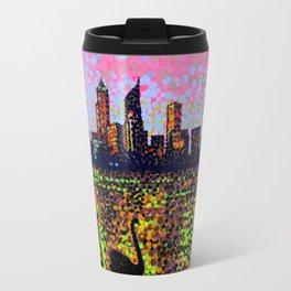 Golden Skyline Travel Mug
