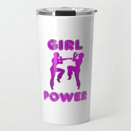 Girl Power Martial Arts Sparring Females Travel Mug