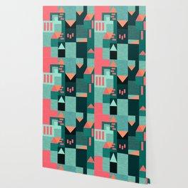 Green Klee houses Wallpaper