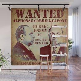 Al Capone FBI Wanted Poster Wall Mural