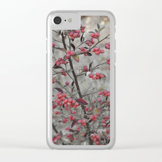 Red Wild Berries in Oakland Clear iPhone Case