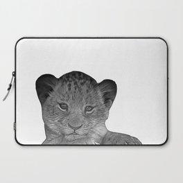 baby cheetah b&w Laptop Sleeve
