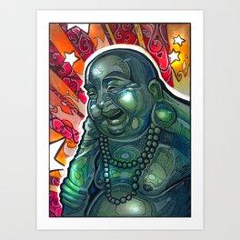 Glowing Buddha Art Print