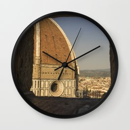 looking at the Duomo Firenze italy Wall Clock