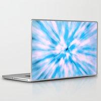 tie dye Laptop & iPad Skins featuring TIE DYE - LIGHT BLUE by Nika