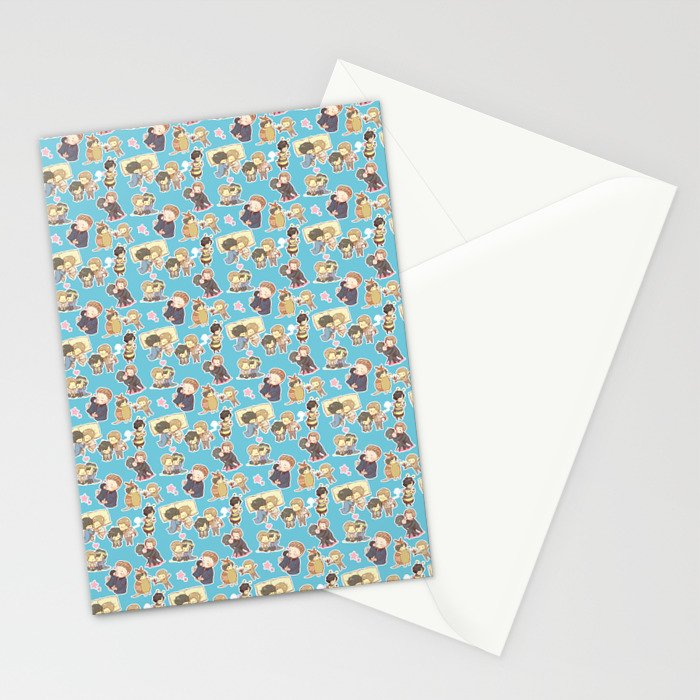 Chibilock Pattern Stationery Cards