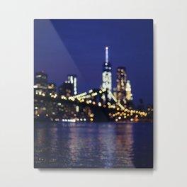 Brooklyn Bridge at Night Metal Print