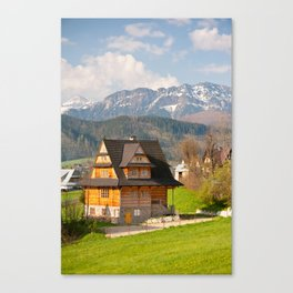 village in Tatra Country Canvas Print