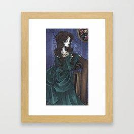 In Her Study Framed Art Print