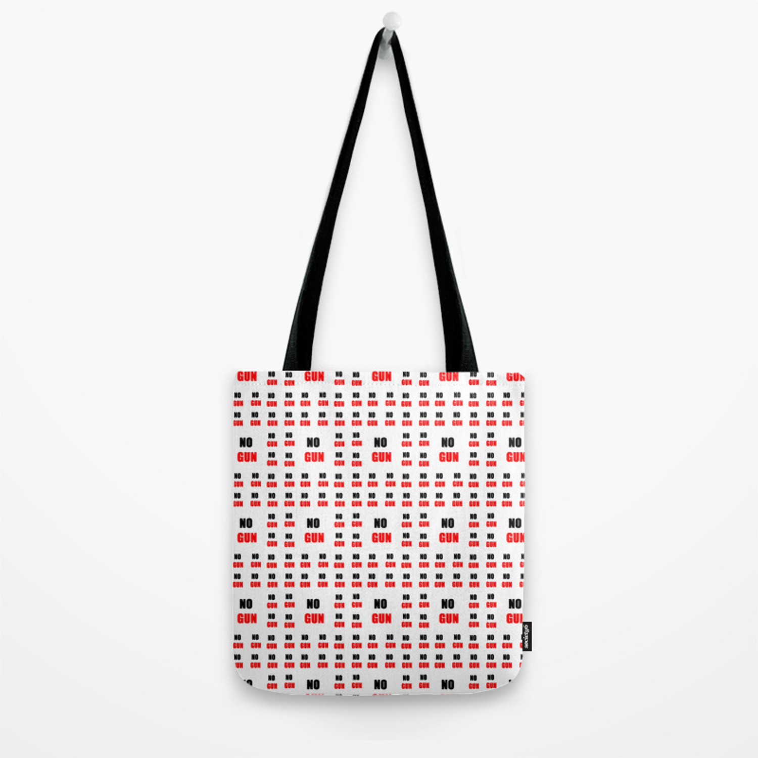 no gun 2– rebel, wild,prohibition,peace,nra,pacifism,weapon  Tote Bag