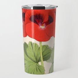 Pelargonium Edward Perkins Vintage Floral Scientific Illustration Travel Mug