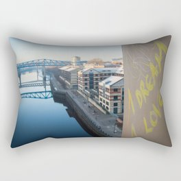 Grafitti City, Newcastle UK Rectangular Pillow