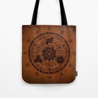 the legend of zelda Tote Bags featuring The Legend Of Zelda by Electra