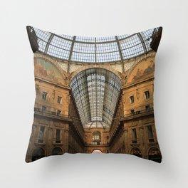 Galleria Vittorio Emanuele in Milan, Italy Throw Pillow