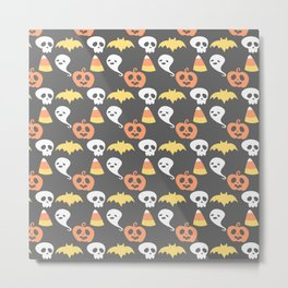 Adorable Halloween Pattern Metal Print