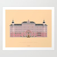 budapest hotel Art Prints featuring Budapest Hotel by Fred Birchal