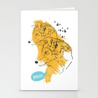 wolves Stationery Cards featuring Wolves by Ann Van Haeken
