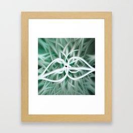 Azur Blossom Framed Art Print