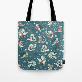 Winter herps in dark blue Tote Bag