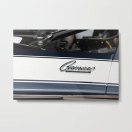 Blue and White Camaro Metal Print