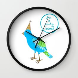 I'm a party animal Wall Clock