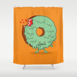 The Zombie Donut Shower Curtain