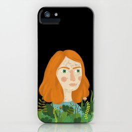 A girl and her plants iPhone Case
