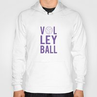 volleyball Hoodies featuring Volleyball (lavendar) by raineon
