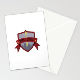 Speed of Scarlet Stationery Cards