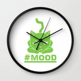 #MOOD Cat Green Wall Clock