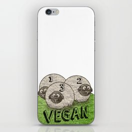 Humorous Illustration of the Sheep Vegetarians. iPhone Skin