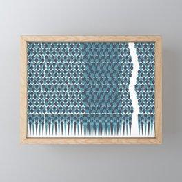 Cubist Ornament Pattern Framed Mini Art Print
