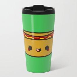 Yummy kawaii hot dog Travel Mug