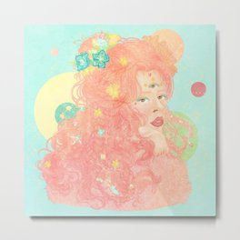 Whimsical Pastel Goddess Metal Print