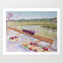 Wine Train Happy Hour Art Print