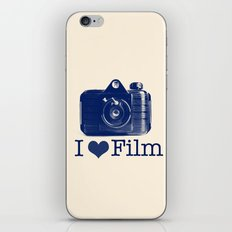 I ♥ Film (Blue/Peach) iPhone & iPod Skin