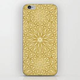 Rings of Flowers - Color: Naples Ochre iPhone Skin