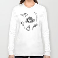 vegetables Long Sleeve T-shirts featuring VEGETABLES by Johan Olander