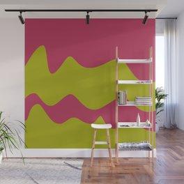 Ribbons: Fuchsia & Lime Wall Mural