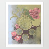 clockwork Art Prints featuring Clockwork by Laura Sturdy