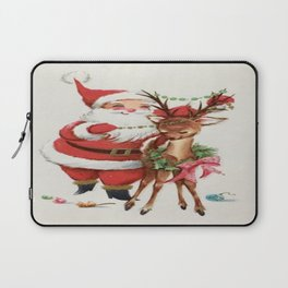 Santa and reindeer Laptop Sleeve