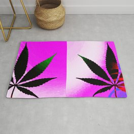 GreenRush - PopLeaf Pink Rug